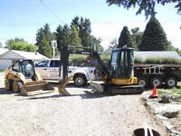 Mini Excavator, Skid Steer and Dump Trailer Service