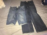One jeans pant and one shorts GAP