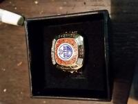 Molson Canadian Stanley Cup Edmonton Oilers collectible ring