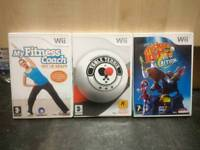 3 wii games inc table tennis