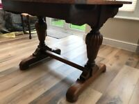 OAK DINING TABLE OVER 100 YEARS OLD EXTENDING