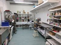 Commercial kitchen studio to hire in Hackney East London. Perfect for bakers!