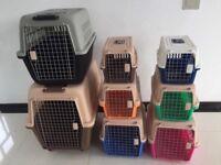 PP plastic pet carrier dog flight cage dog crate manufacturers pet carrier on wheels