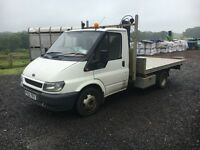 Ford Transit with hiab type crane on quality aluminium flat bed backSOLD SOLD SOLD LOVE GUMTREE!!