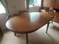 A VINTAGE/MID-CENTURY G-PLAN E GOMME TEAK EXTENDING 6/8 SEATER DINING TABLE ,DELIVERY AVAILABLE