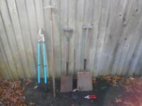 Garden tools, Job Lot