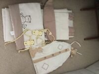 Unisex nursery curtains/cot bed bumper/ nappy sack from Mamas&Papas