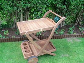 Outdoor Serving Trolley Solid Wood