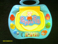 Little Used Peppa Pig My First Laptop & Peppa Pig 'Zap and Learn Toy