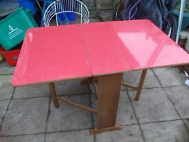 vintage mid century formica drop leaf table