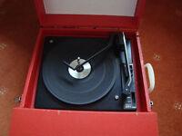Fidelity Vinyl portable record player.