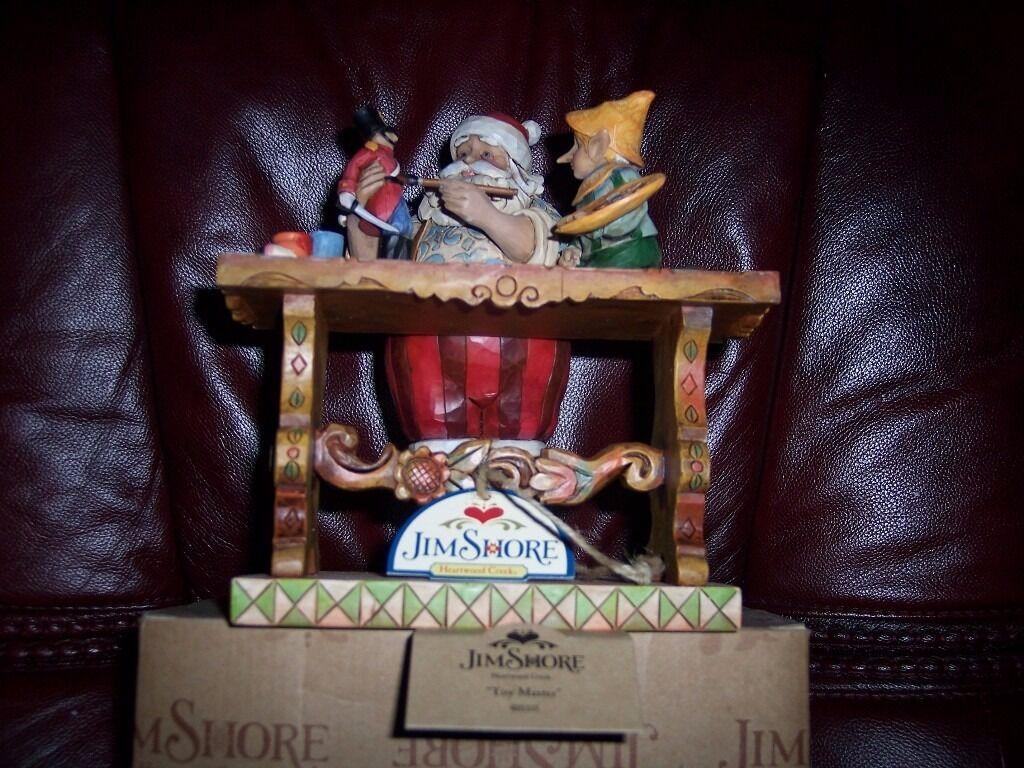 jim shore santas workshop figurine (discontinued)
