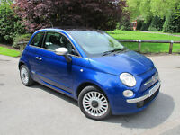 2010 (60) Fiat 500 1.3 Multijet Lounge 3dr. Panoramic Roof..Brilliant MPG!