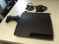 PS3 PlayStation 3 Slim with games