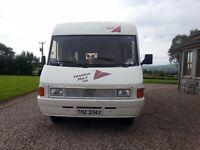 LEFT HAND DRIVE FIAT DUCATO 1991 2500cc; 5 BERTH MOTOR HOME in FULL WORKING ORDER