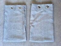 Dunelm Eyelet Grey Basketweave curtains - W168cm x D137cm