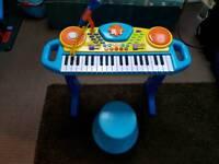 Keyboard and stool