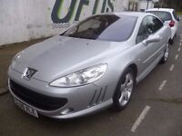 Peugeot 407 gt auto,diesel,coupe sport,stunning looking car,full sports leather interior,SL06XLE