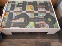 Wooden train table from early learning centre