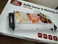 BUFFET SERVER AND WARMING TRAY BRAND NEW STILL BOXED