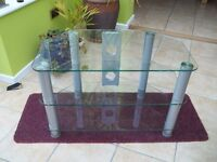 Glass TV stand table