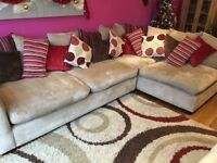 Corner sofa units and pouffe