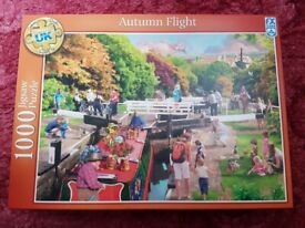 1000 PIECE AUTUMN FLIGHT JIGSAW PUZZLE - COMPLETE