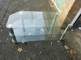 """Glass tv stand holds up to a 42"""""""