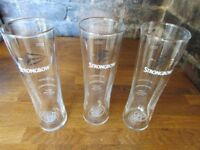 3 Strongbow Pint Glasses