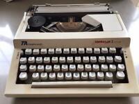 Vintage Adler Contessa Portable Typewriter