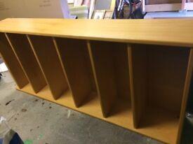 Tall oak bookcase