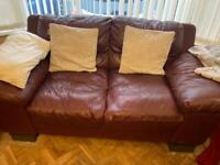 3 piece suites- leather couch