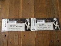 2x CELINE DION TICKETS/THE SSE HYDRO GLASGOW£