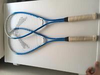 Pair of Slazenger squash rackets