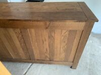 Rustic solid walnut sideboard