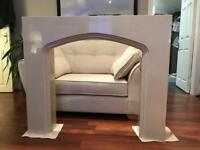 Marble Fire Surround with lights