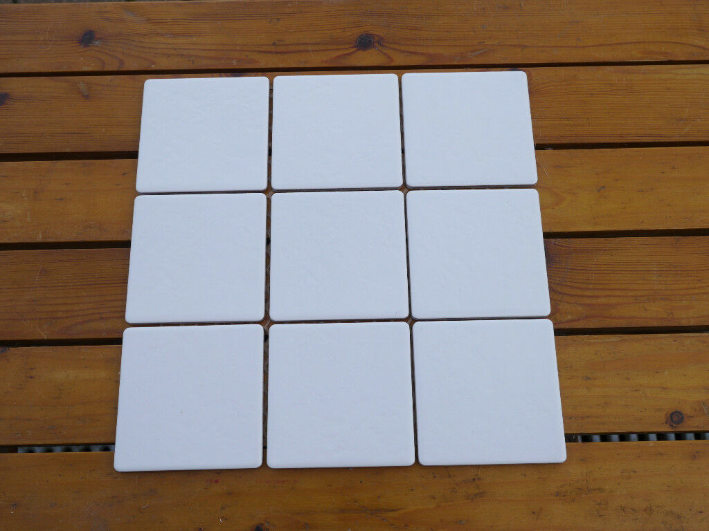 Wall Tiles White Silk Dimple Finish 10cm Square 4 Metres Available