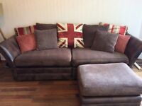 Barker and Stonehouse sofa, cuddle chair and footstool (can sell seperately)