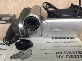 Panasonic Camcorder. Its an NV GS 27. Automatic focus.30 times zoom lens.