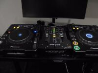 Pair of Pioneer CDJ 1000 MK3 Turntable & allen & heath xone 23 mixer + Gorilla stand