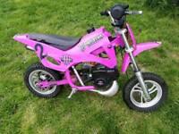 Mini dirt bike pink