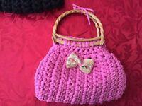 Homemade handbags.