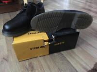 Sterling Safety Shoes (steel toe capped) £20 ovno