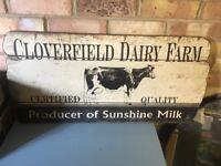 Dairy farm sign kitchen