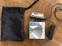 Panasonic SJ - MJ 88 Mini Disc Player and over 140 mini discs