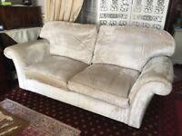 Laura Ashley Cream Velvet Sofa