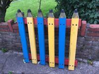 Childrens Garden Pencil Style Fencing