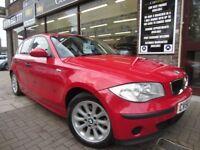 BMW 1 SERIES 2.0 118d ES 5dr (red) 2006