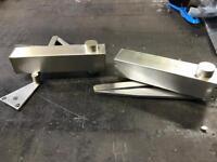 Stainless steel self closing door rams