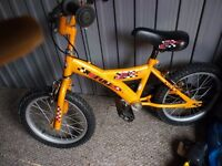 bmx x fire bike, nice condition,suit 4 to 8 years, bargain £15, can deliver